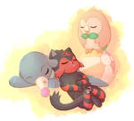 Napping under the sun and moon