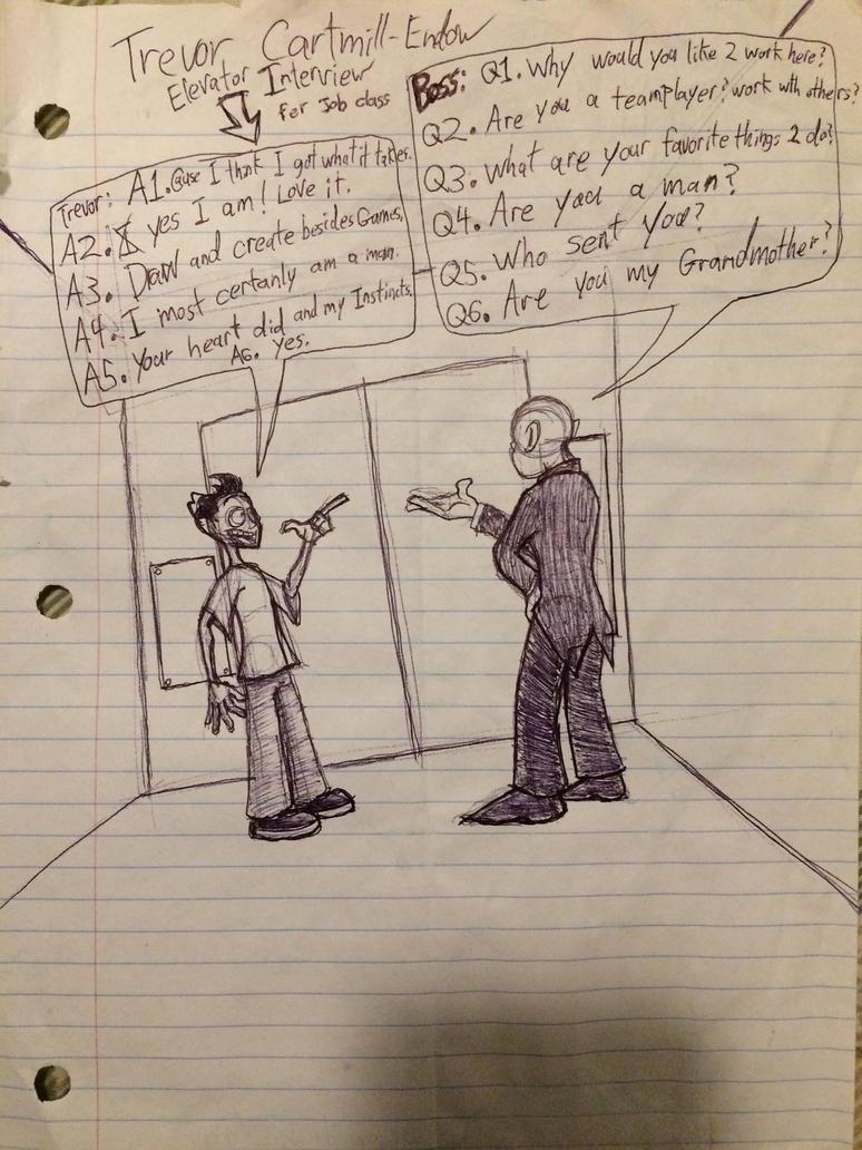 Trevor's Elevator interview sketch by Rovertarthead