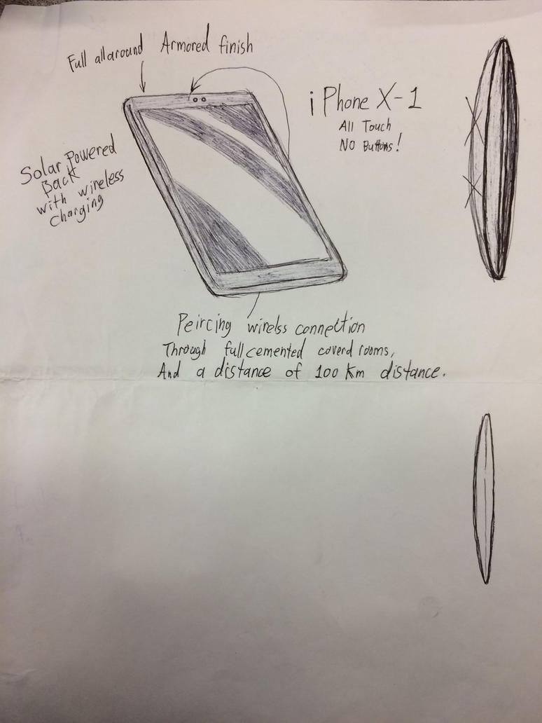 The new iPhone X-1 by Rovertarthead