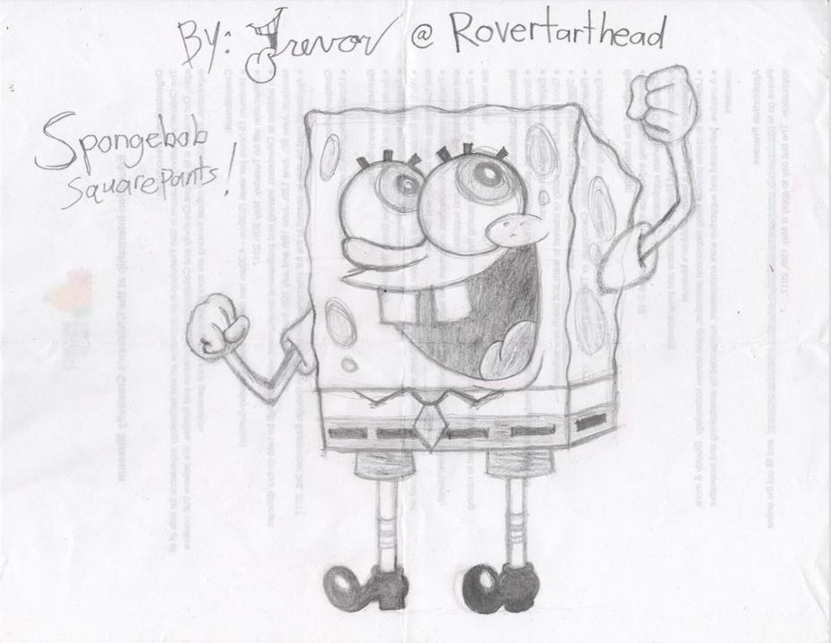 Spongebob Squarepants Yay sketch by Rovertarthead