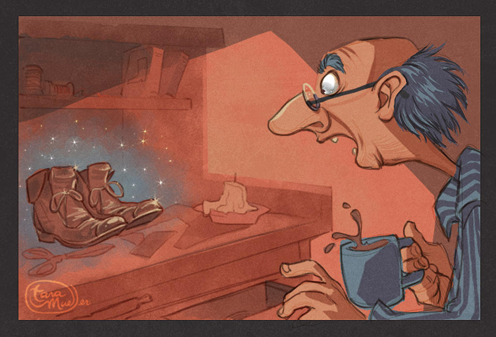 Bros Grimm Illustrations: Elves and the Shoemaker by dizzyclown on ...