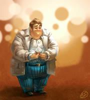 Happy Cupcake Man by dizzyclown