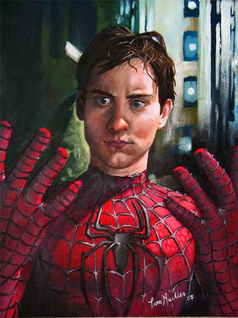 Oil Paint: Spiderman by dizzyclown