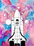 Inktober 2020 Day 16: Rocket by RG-Arts