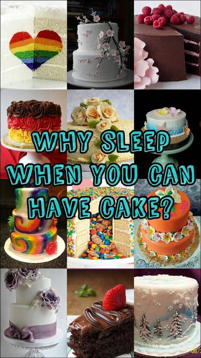 Why Sleep When You Can Have Cake? by ThatWeirdHetalian