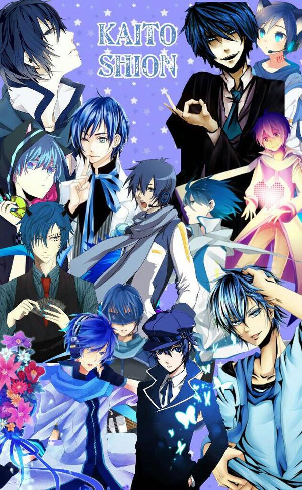 Vocaloid Kaito Shion Collage by ThatWeirdHetalian