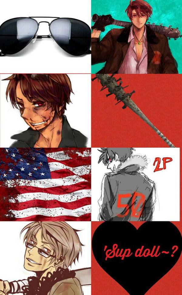 Aph 2p America - Allen F. Jones Aesthetic Collage by ThatWeirdHetalian