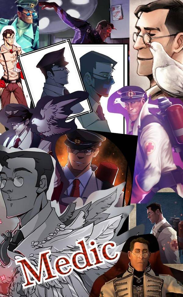 Medic Collage (2) by ThatWeirdHetalian