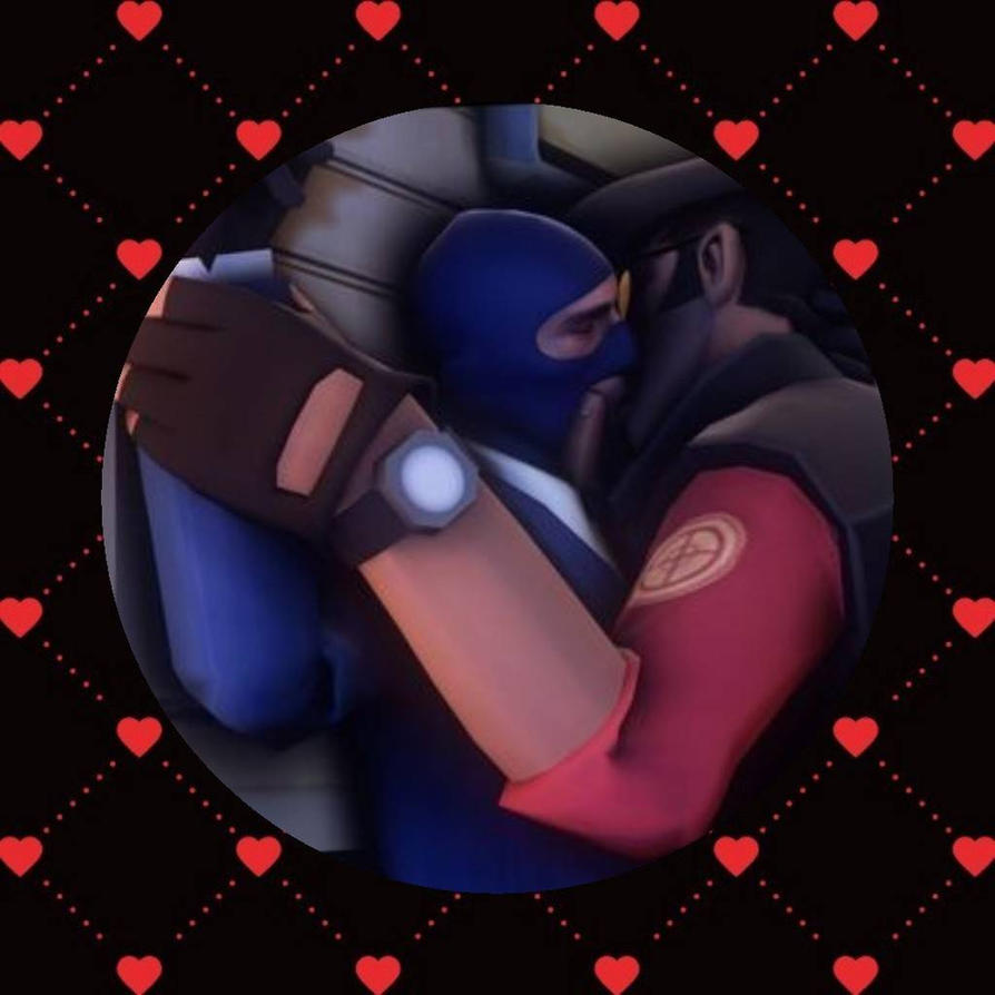 Red Sniper x Blue Spy by ThatWeirdHetalian