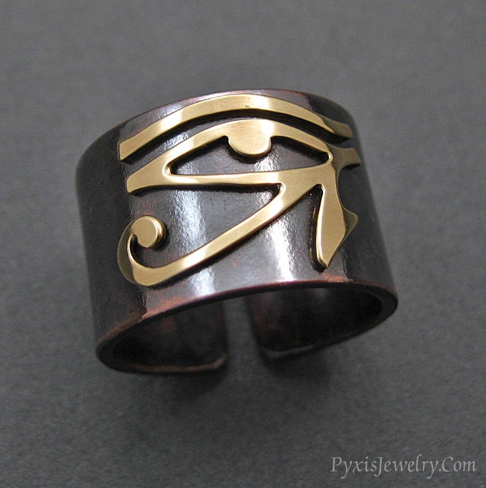 Eye Of Horus - Adjustable Ring by PyxisJewelry on DeviantArt
