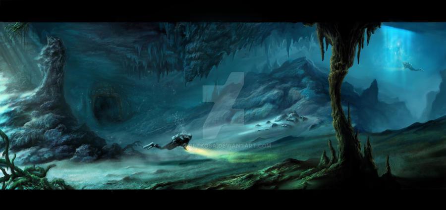 Underwater cave by ZsoltKosa