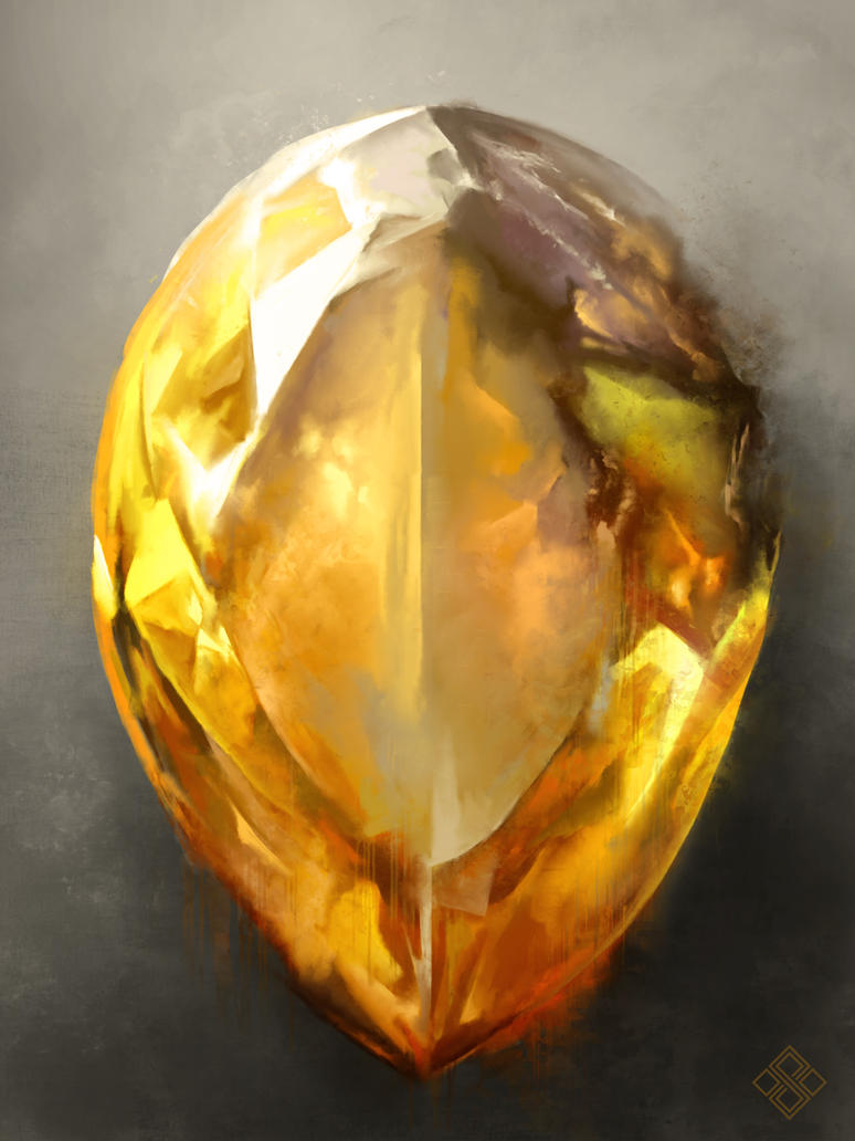 Infinity citrine by zsoltkosa on deviantart for Paintings of crystals