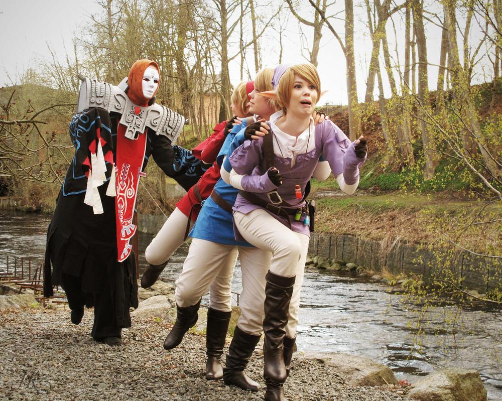 Twilight Princess: Link x 3 and Zant by kakeboksen