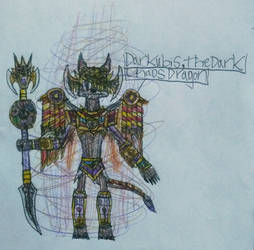 Darkubis, the Dark Chaos Dragon  by DragoTerror