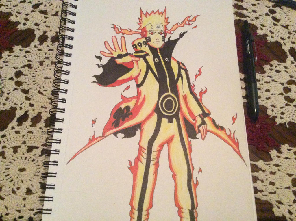 Naruto's Nine-Tails Chakra Mode by Raidenmgear on DeviantArt