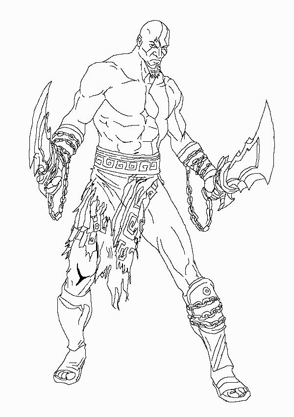 Zeus Line Drawing : Kratos lineart shaky lines by digitaleva on deviantart