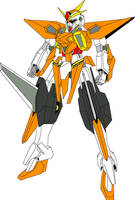 GN-013 Gundam Amsel colored by digitaleva
