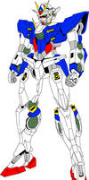 GN-014 Gundam Fahren colored by digitaleva
