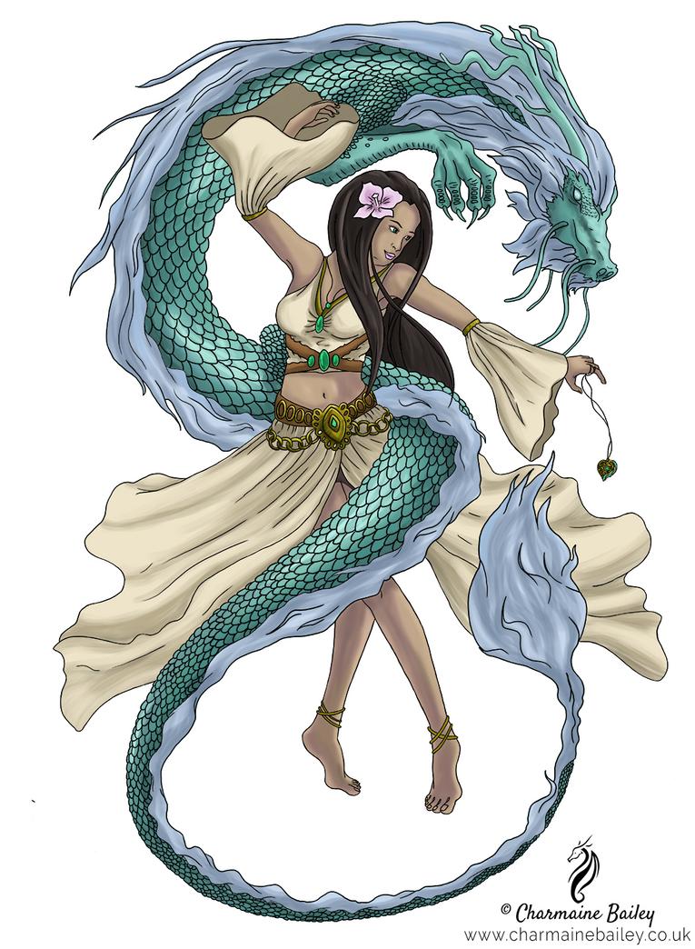 Fantasy Dragon Dancer by Chalouba