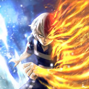 Todoroki Shouto-My Hero Academia-semi-realistic by Rosuke97