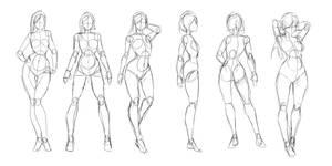Poses/anatomy Practice by Rosuke97