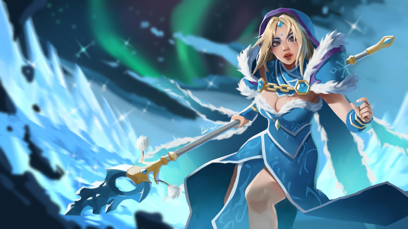 Crystal Maiden Arcana Wallpaper Hd