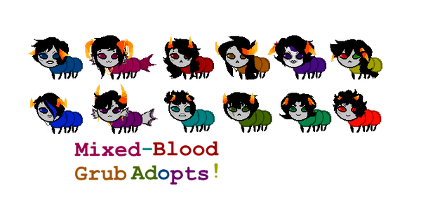 {mixed-blood grub adopts- open!} by AD0PTS-4-Y0U