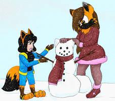 COLLAB: Building a snowfox