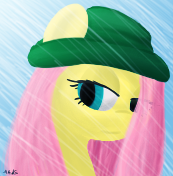 Fluttershy Painting by Mang-Dev