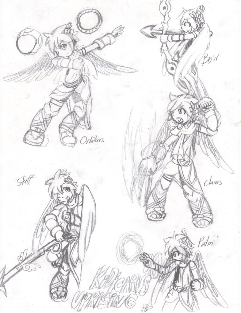 Kid Icarus Uprising Weapons By Paws The Snowleopard