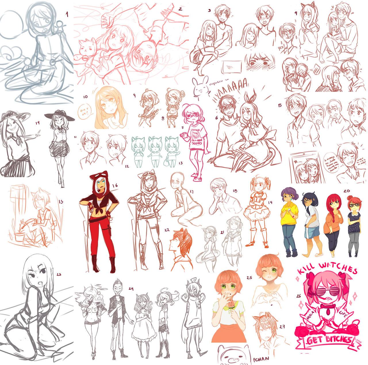 Sketch dump by AkatsukiZakuro