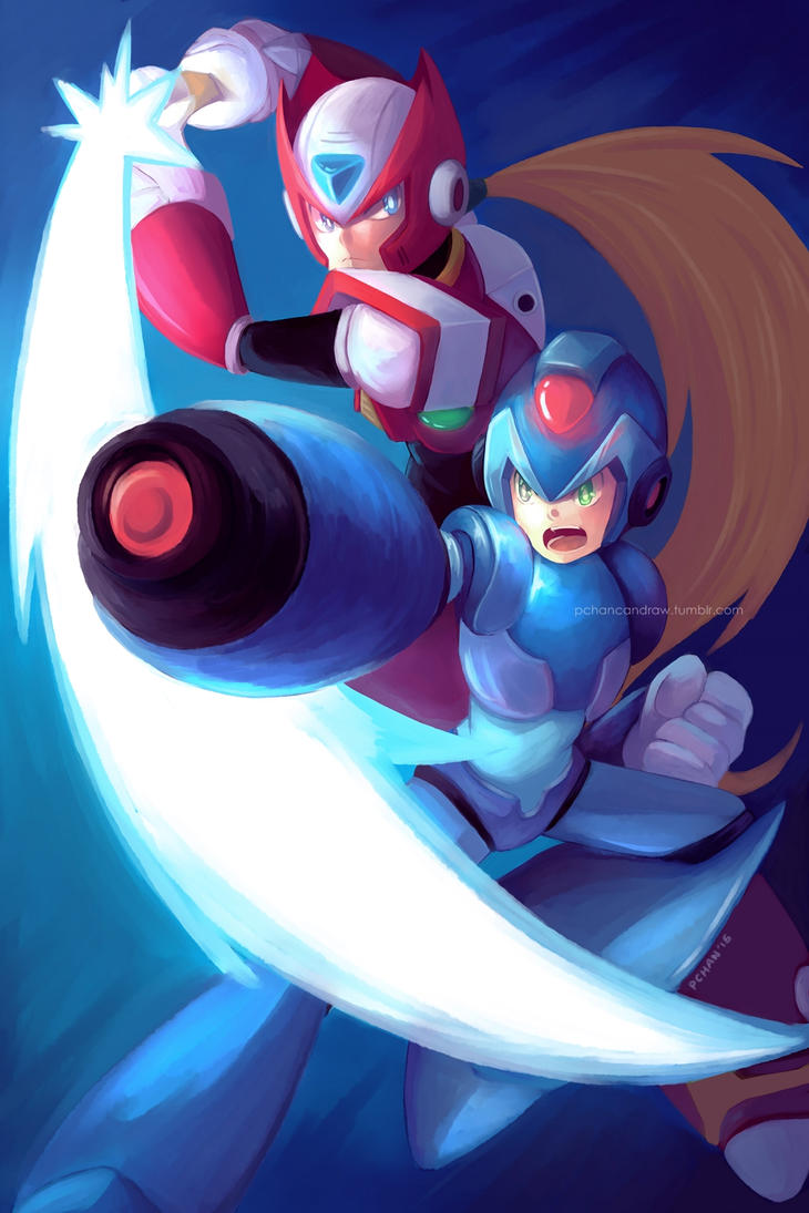 Megaman and Zero by AkatsukiZakuro