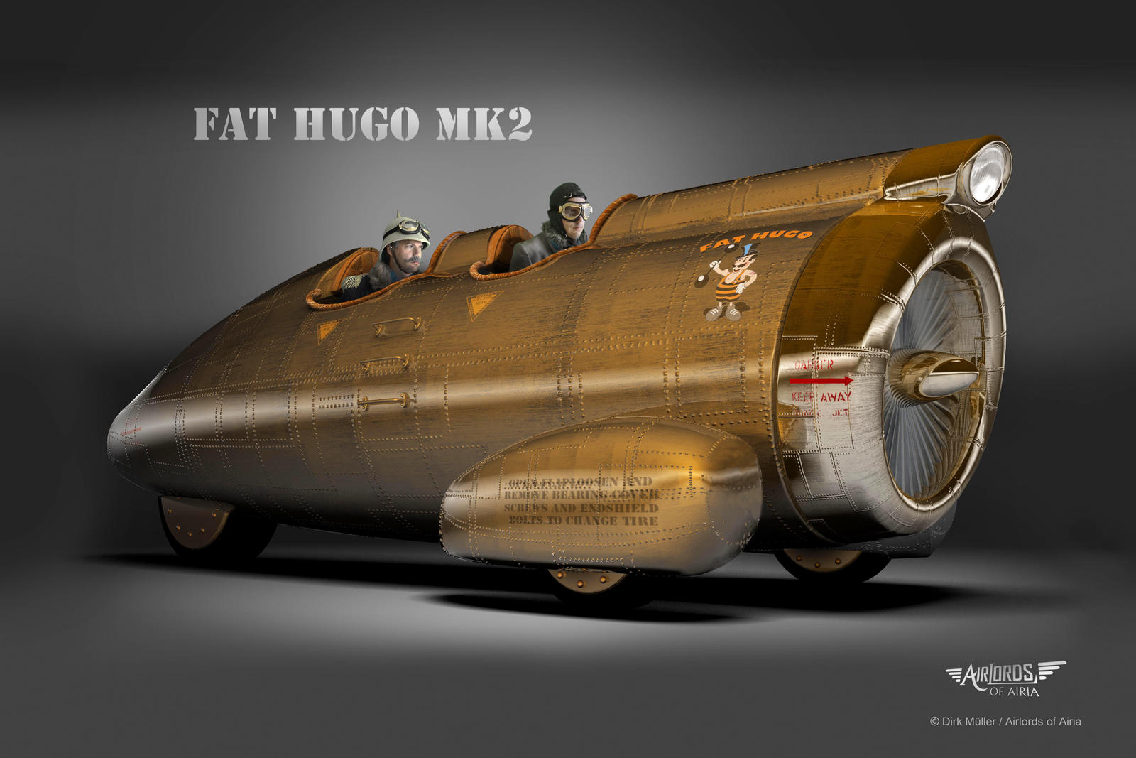 Steampunk Car Airlords FAT HUGO MK2 by Airlords on DeviantArt