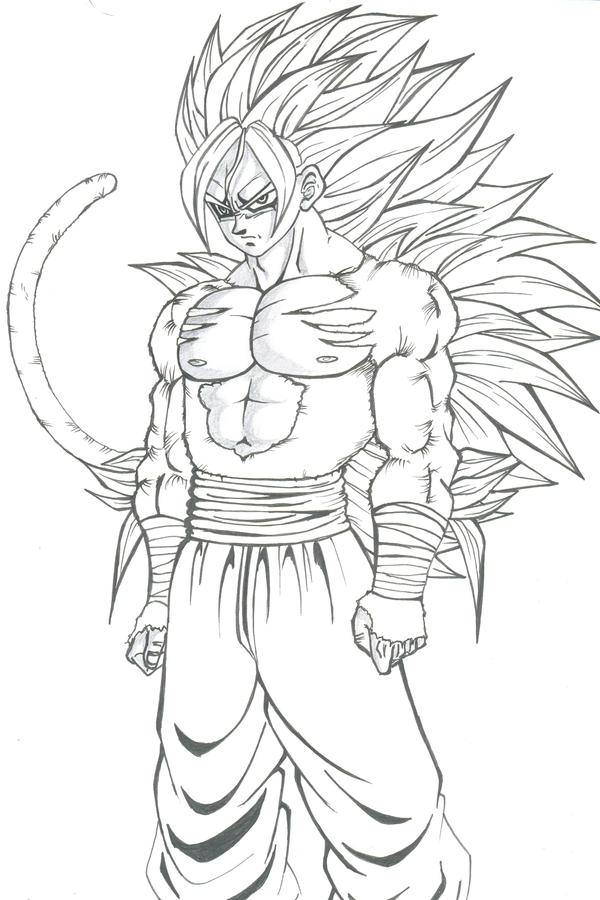 coloring pages dragonball z ssj5 - photo#21