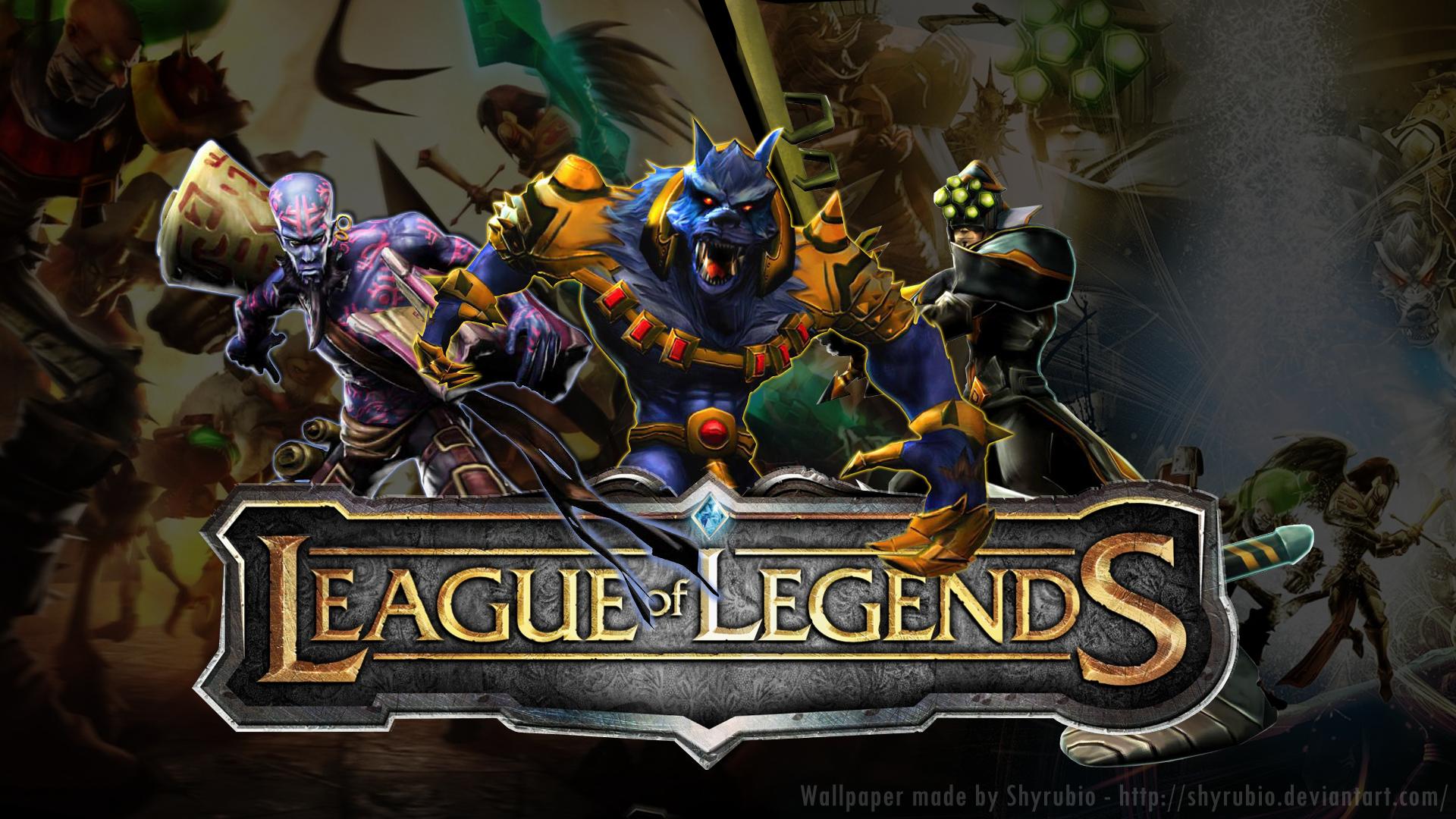 League of Legends. League_Of_Legends___Wallpaper_by_shyrubio