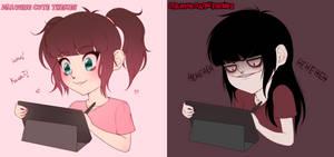 Drawing Cute VS Drawing Dark