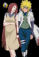 Minato and Kushina render by watashi-mina