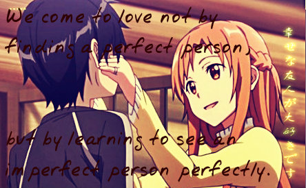 Imperfect Love Quotes Enchanting Imperfect Love Sao Quotechalicetheif On Deviantart