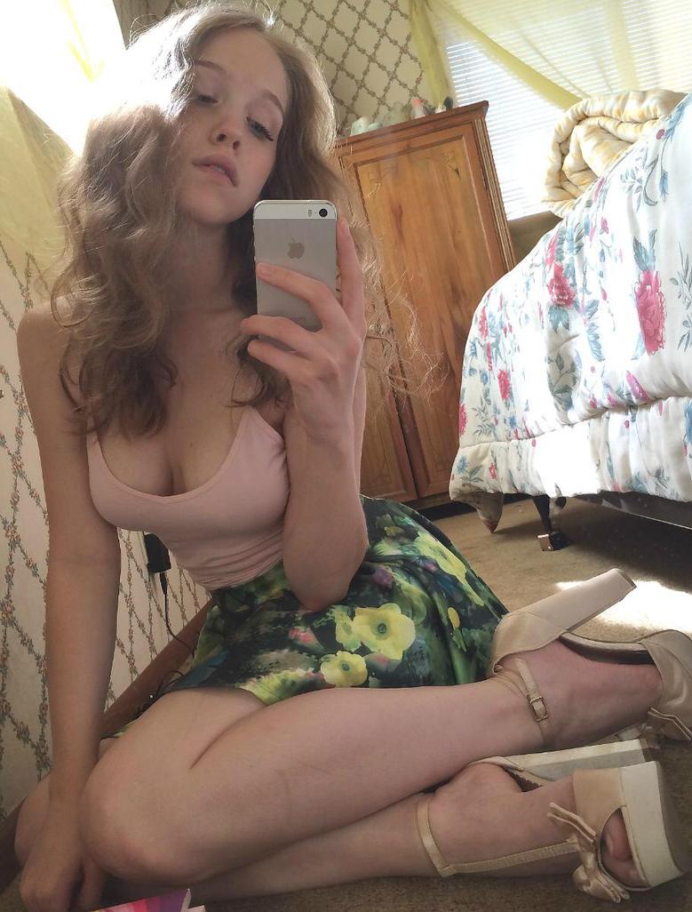 young school girl feet