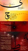 Dear Friend - arabic typogaphy
