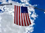 American Flag Outside Lucas Oil Stadium 10.11.16