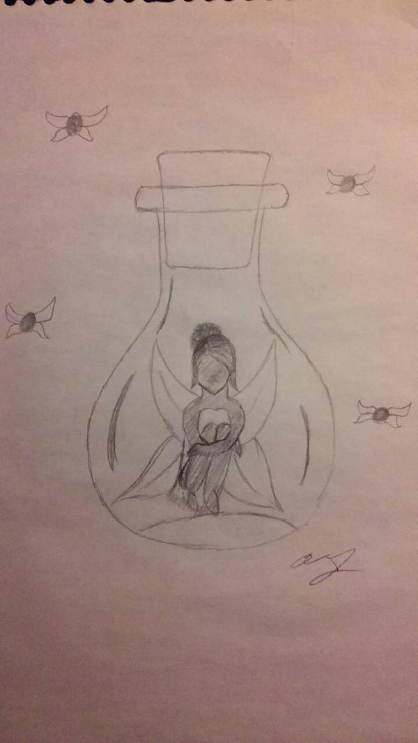 Bottled Fairy by gummybear818