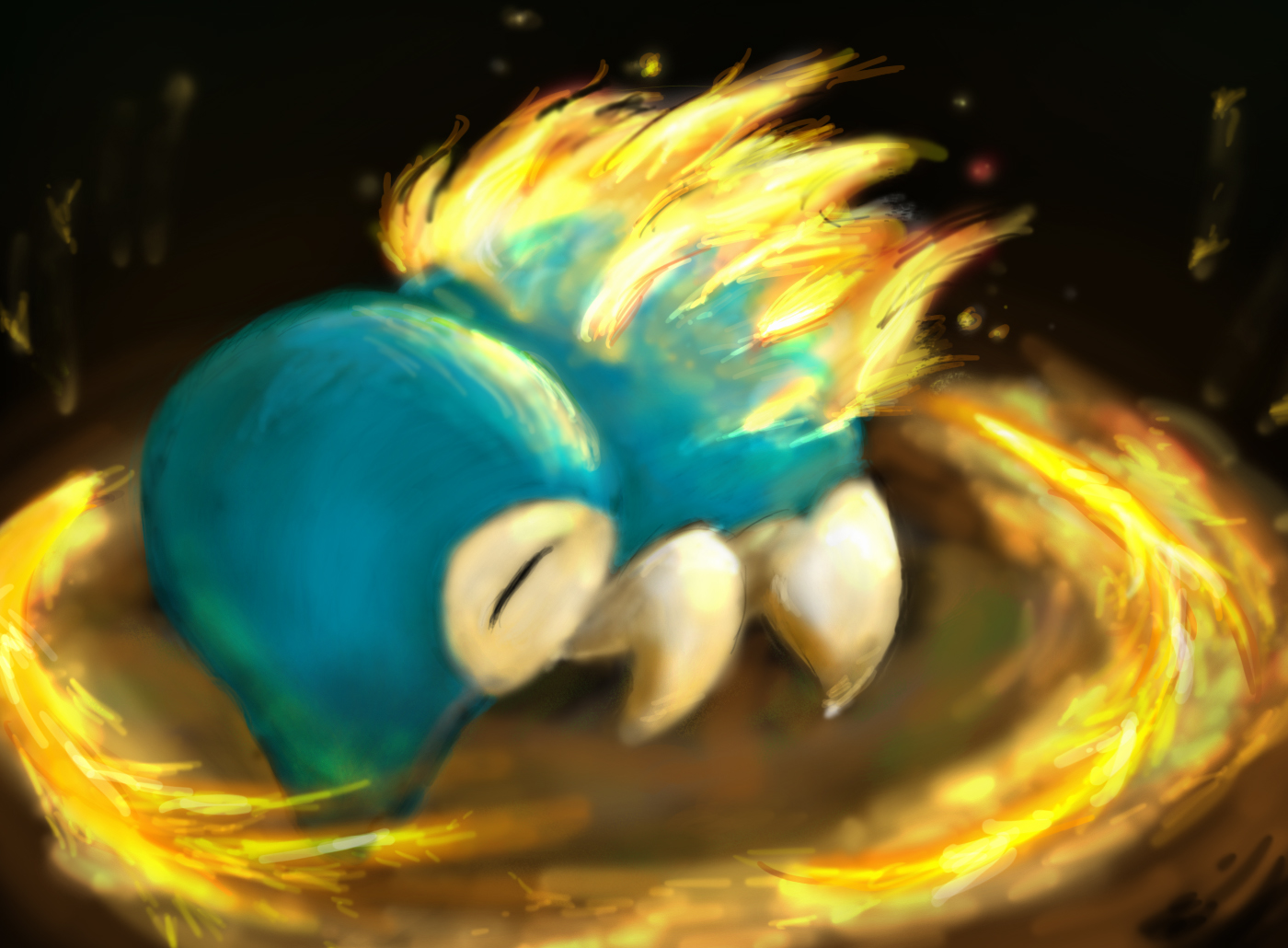 Cyndaquil used Fire Spin by sleepymiguel on DeviantArt Cyndaquil Wallpaper