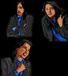 Claudia Rivas pixel portraits