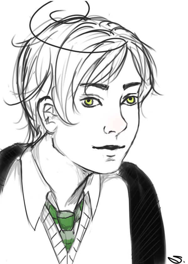 The smile of a slytherin by Sciangri96