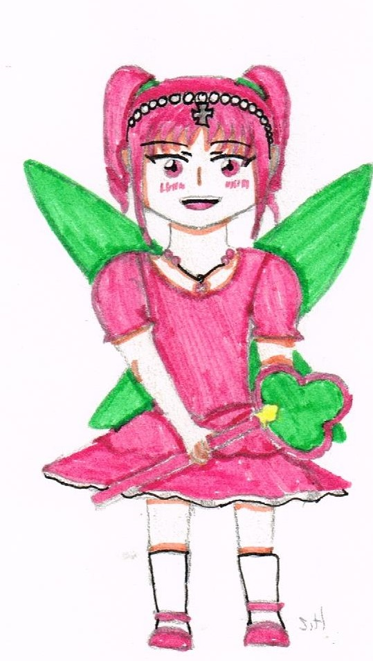Commande De Dessin Fillette Rose By Bellaqua D Alice On