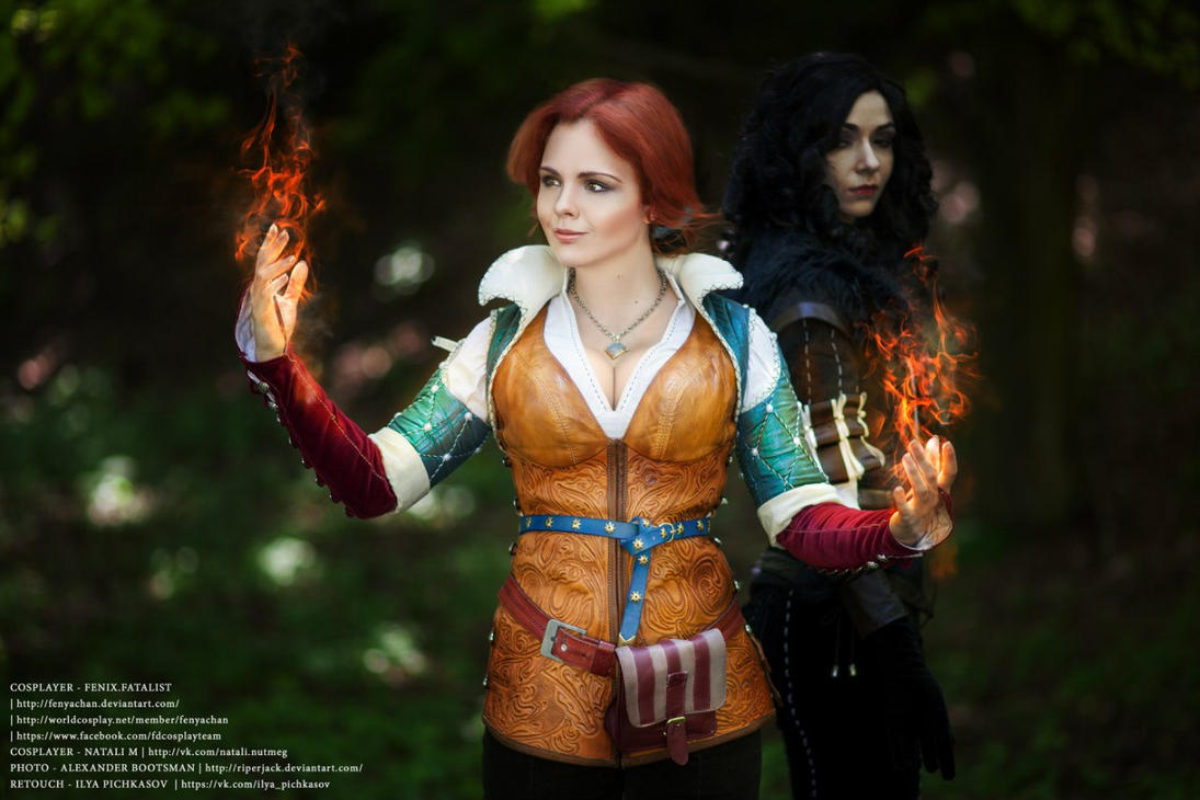 Witcher - Yen and Triss by Fenyachan