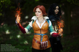 Witcher - Yen and Triss by fenixfatalist