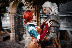 The Witcher - Triss and Geralt by fenixfatalist