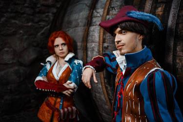 The Witcher - Triss and Dandelion by fenixfatalist